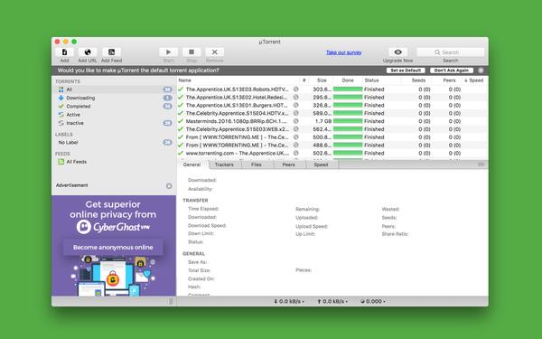 Bittorrent app download for mac