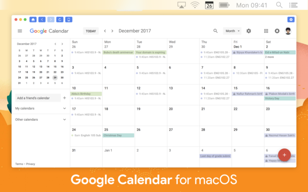 Google Calendar For Mac